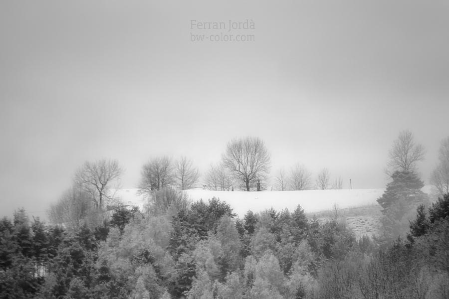 Les cases sota la neu