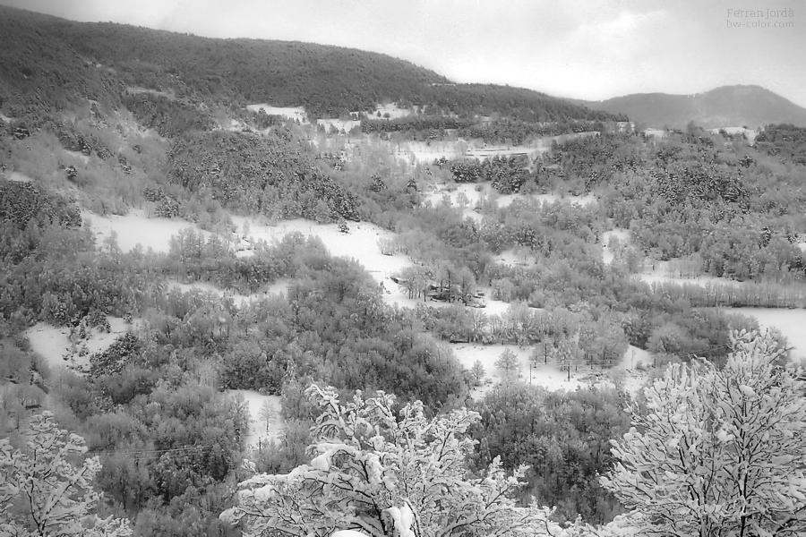Paisatge hivernal al Ripollès
